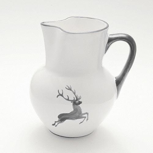 Gmundner Ceramics 'Grey Deer' Vienna Jug 1.5 L