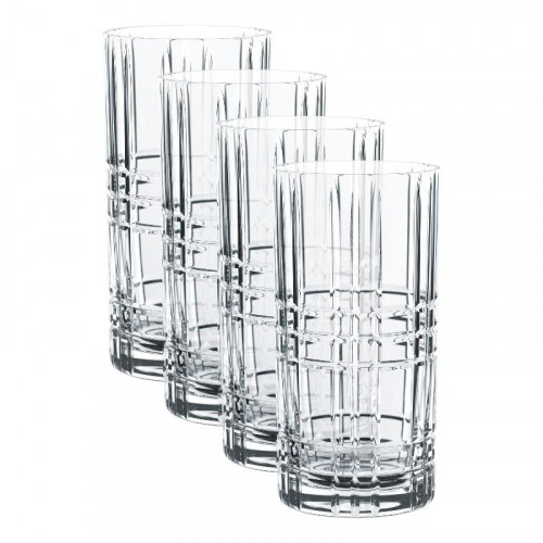 Nachtmann Square Longdrink Glass Set 4 pcs. 445 ml / h: 15,1 cm / d: 7,7 cm