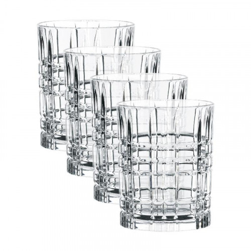 Nachtmann Square Whiskey Glass Set 4 pcs. 345 ml / h: 10,2 cm / d: 8,2 cm