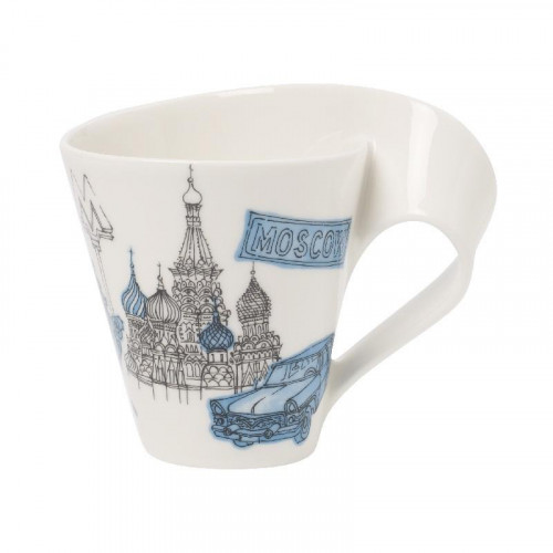Villeroy & Boch New Wave Caffè Cities of Europe - Moscow Mug with handle,gift wrapped 0.35 l