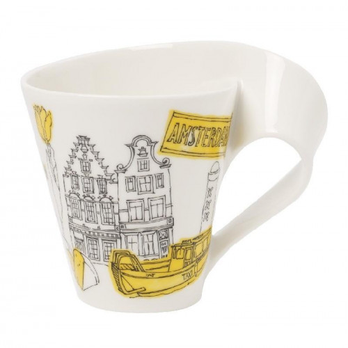 Villeroy & Boch New Wave Caffè Cities of Europe - Amsterdam Mug with handle,gift wrapped 0.35 L