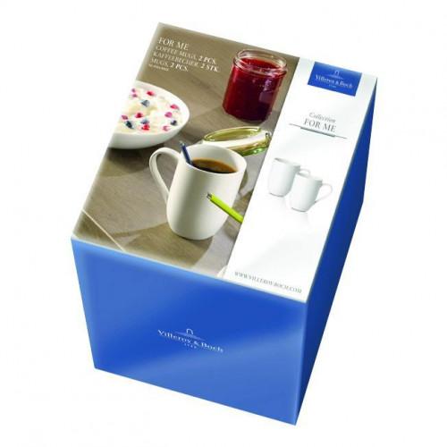 Villeroy & Boch,'For Me weiss' Coffee Mugs,2 pcs set