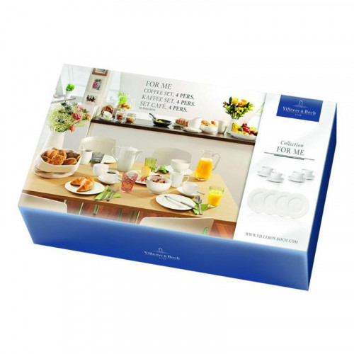 Villeroy & Boch,'For Me weiss' Coffee Set for 4 persons