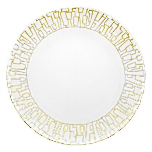 Rosenthal Studio-line,'TAC Gropius - Skin Gold' Dining plate 28 cm