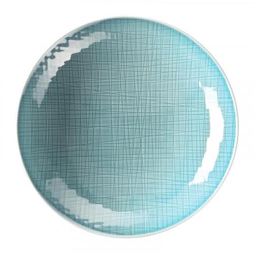 Rosenthal Selection,'Mesh Aqua' Plate deep / pasta plate 25 cm