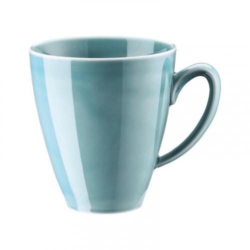 Rosenthal Selection,'Mesh Aqua' Mug unruffled with handle 0.35 l
