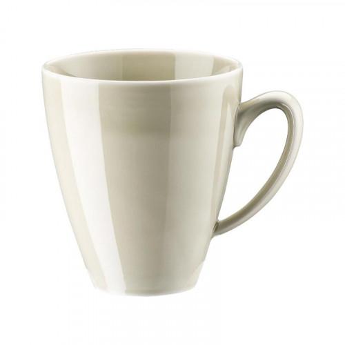 Rosenthal Selection,'Mesh Cream' Mug unruffled with handle 0.35 l