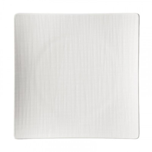 Rosenthal Selection,'Mesh weiss' Plate square flat 27 cm