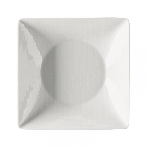 Rosenthal Selection,'Mesh weiss' Plate square deep 20 cm