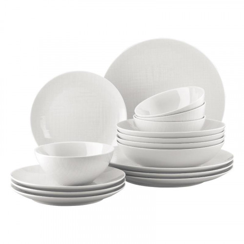 Rosenthal Selection Mesh white Combi set (with cereal bowl) 16 pcs.