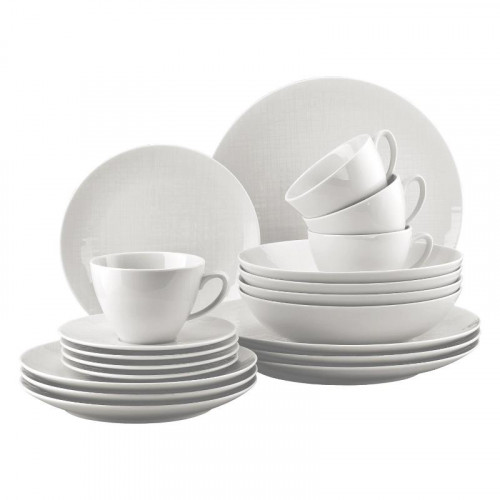 Rosenthal Selection,'Mesh weiss' Universal set (with universal cup) 20 pcs