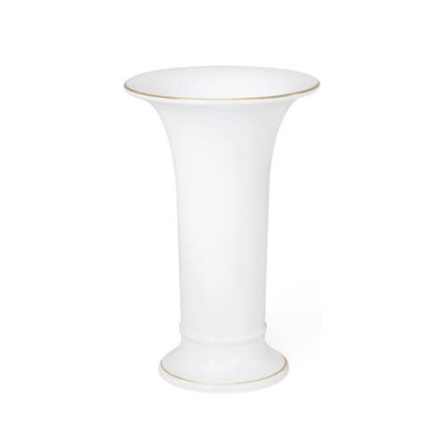 KPM,'Vases after Karl-Friedrich Schinkel 1820-30' Vase 'Trumpet Shape 1 Gold Rim' 150 mm
