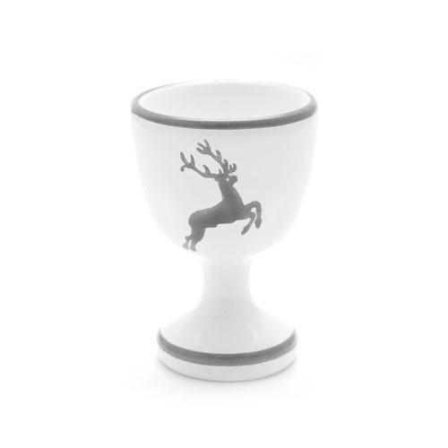 Gmundner Ceramics,'Grey Deer' Egg Cup h: 6 cm