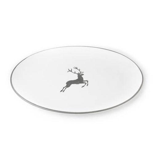 Gmundner Ceramics,'Grey Deer' Platter oval 33x26 cm