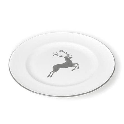 Gmundner Ceramics,'Grey Deer' Dessert Plate gourmet 22 cm