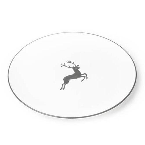 Gmundner Ceramics,'Grey Deer' Dinner Plate classic 28 cm