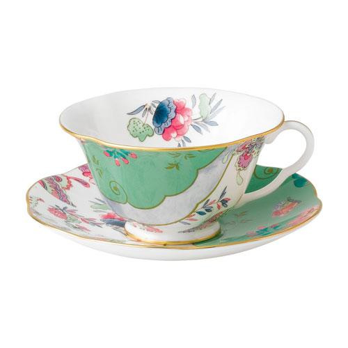 Wedgwood,'Butterfly Bloom' Tea Cup Green 2 pcs