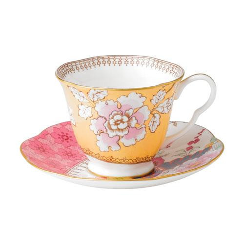 Wedgwood,'Butterfly Bloom' Tea Cup Yellow 2 pcs