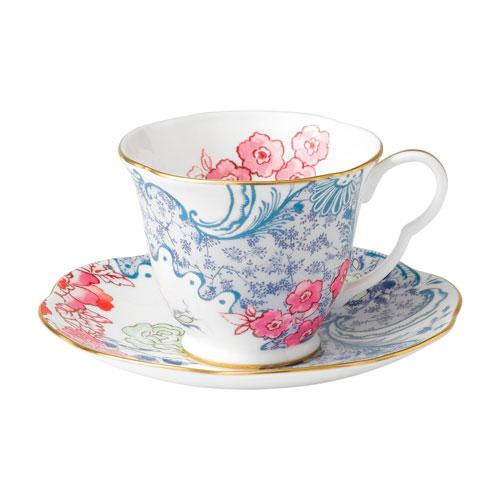 Wedgwood,'Butterfly Bloom' Tea Cup Blue and Pink 2 pcs
