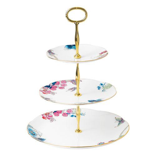 Wedgwood,'Butterfly Bloom' Cake Stand in Gift Box 3 Tier