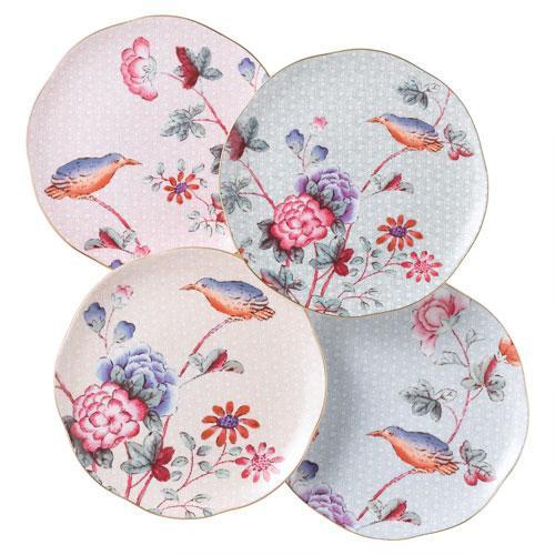 Wedgwood,'Harlequin Collection Cuckoo' Dessert Plate Set of 4 pcs 21 cm