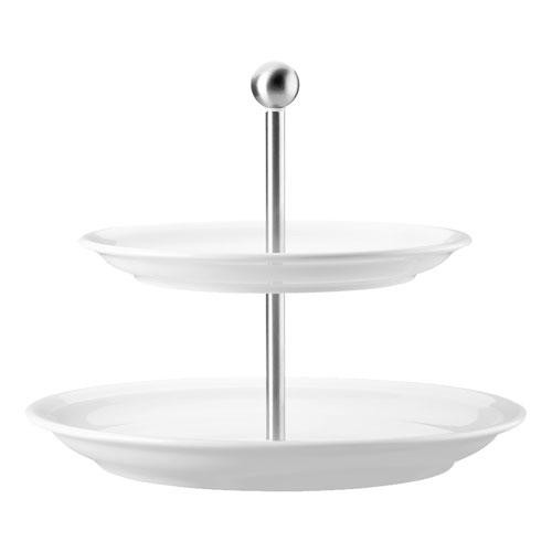 Thomas,'Trend Weiss' Tiered Cake Stand,2 pcs Upper plate 22 cm / bottom plate 26 cm
