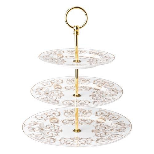 Rosenthal Versace,'Medusa Gala' Tiered Cake Stand,3 pcs Plate 18-22-27 cm