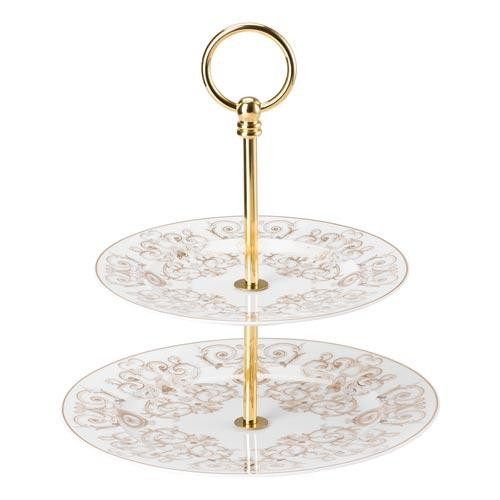 Rosenthal Versace,'Medusa Gala' Tiered Cake Stand (small),2 pcs Upper plate 18 cm / bottom plate 22 cm