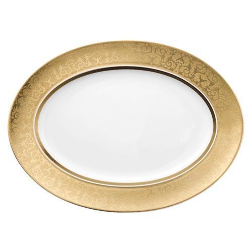 Rosenthal Versace,'Medusa Gala Gold' Dish 40 cm