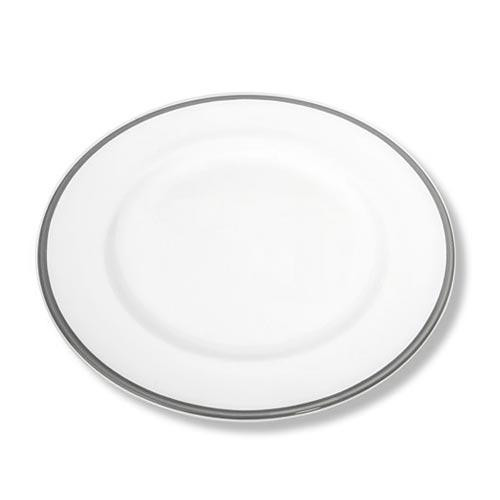 Gmundner Keramik,'Grauer Rand' Dessert/hors d'oeuvre plate 'Gourmet' 22 cm