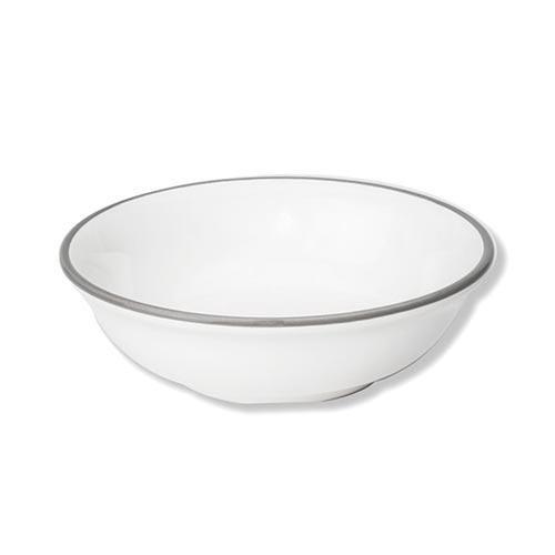 Gmundner Keramik,'Grauer Rand' Cereal/ muesli bowl (small) 14 cm