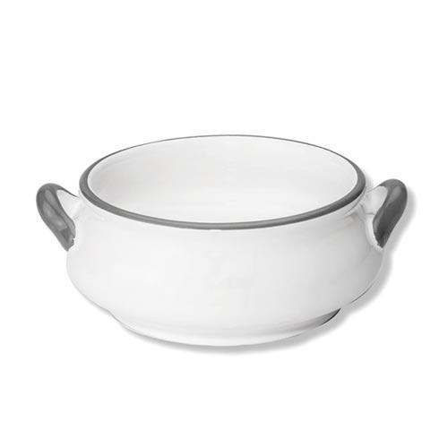Gmundner Keramik,'Grauer Rand' Soup bowl 'Classic' 0.37 L
