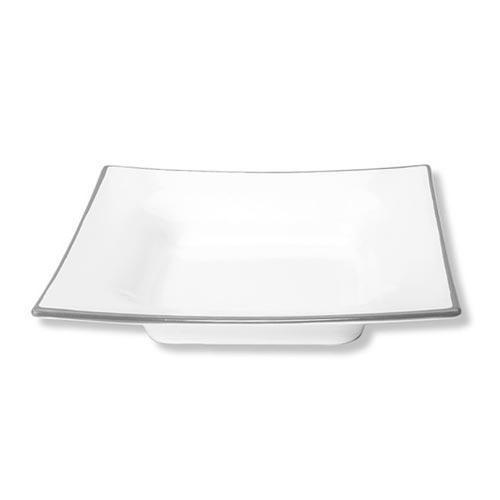 Gmundner Keramik,'Grauer Rand' Soup plate with edge 'Gourmet' 24 cm