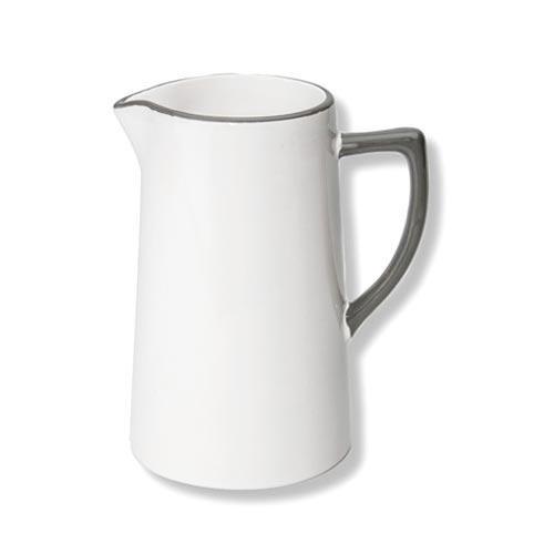 Gmundner Keramik,'Grauer Rand' Water jar/ jug 0.7 L