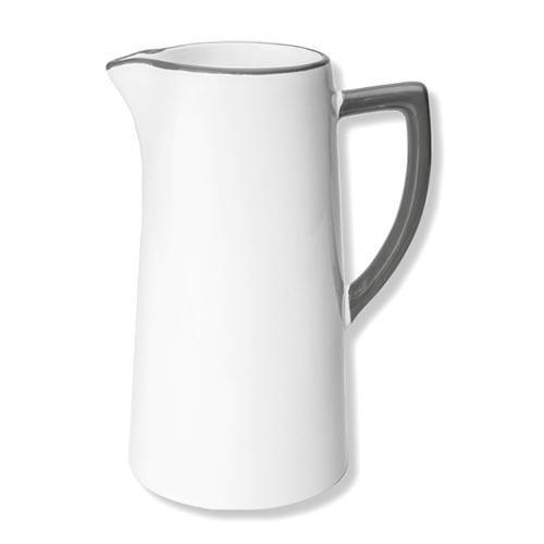 Gmundner Keramik,'Grauer Rand' Water jar/ jug 1.2 L