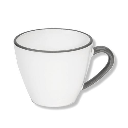 Gmundner Keramik,'Grauer Rand' Coffee cup 'Gourmet' 0.2 L