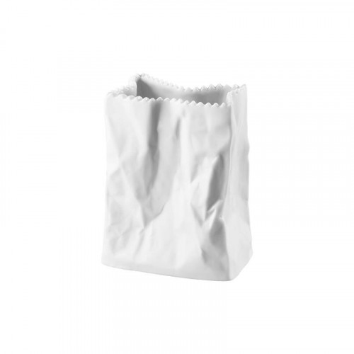 Rosenthal Studio-Line,'Do not litter' Bag vase matt white 10 cm