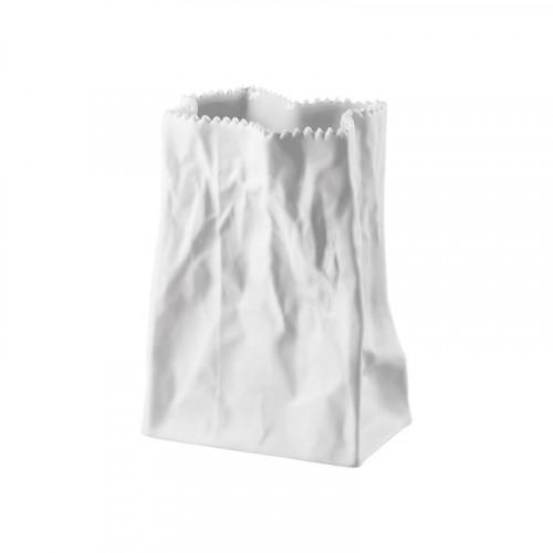 Rosenthal Studio-Line,'Do not litter' Bag vase matt white 14 cm