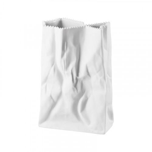 Rosenthal Studio-Line,'Do not litter' Bag vase matt white 18 cm