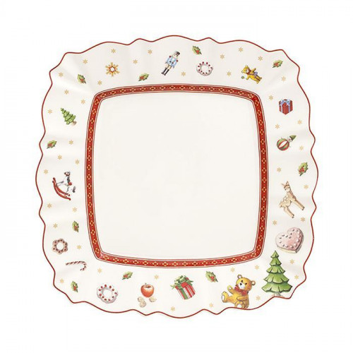 Villeroy & Boch,'Toy's Delight' Breakfast plate,angular shaped 22 cm