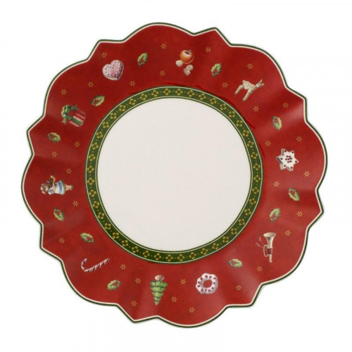 Villeroy & Boch,'Toy's Delight' Bread Plate red 17 cm