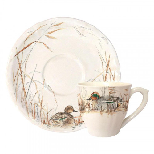 Gien 'Sologne' Coffee/ tea cup saucer,15.3 cm