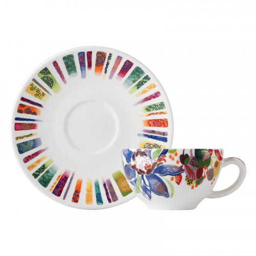 Gien,'Eden' Breakfast cup with saucer,2 pcs,0.26 L