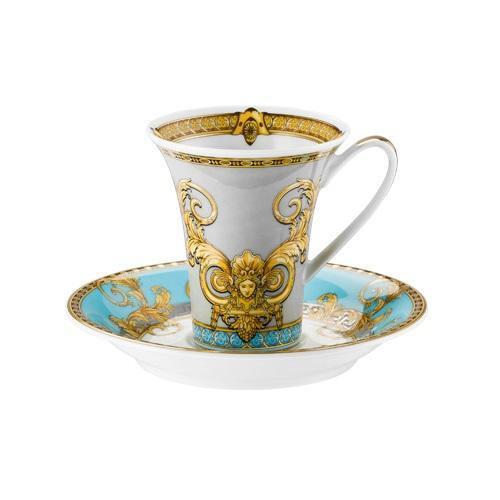 Rosenthal Versace,'Prestige Gala Le Bleu' Espresso / mocha cup 0.09 l 2 pcs