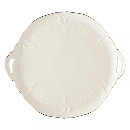 Rosenthal Selection,'Sanssouci Elfenbein Gold' Cake plate 32 cm