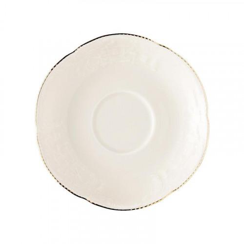 Rosenthal Selection,'Sanssouci Elfenbein Gold' Espresso/mocha saucer,11,5 cm