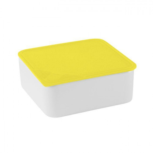 Arzberg,'Küchenfreunde / Form 2006 Frischedosen' Small square yellow bowl with a lid 15 x 15 cm / 0,6 L
