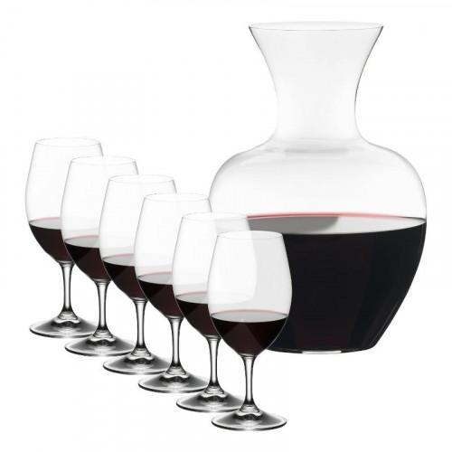 Riedel Gläser,'Overture' Drinking glass 6x Magnum Ouverture + decanter Apple 7-piece set