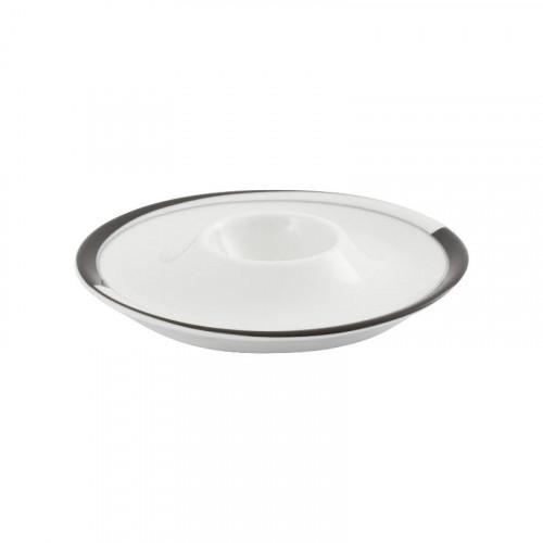 Friesland,'La Belle Black & White' Egg Cup d: 13 cm