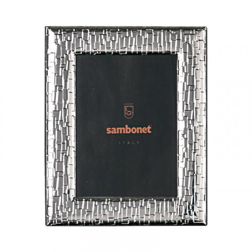 Sambonet,'Silberrahmen' Picture frame 'Skin' silver plated 13 x 18 cm